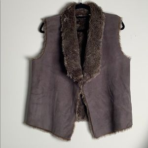 Anthropology Faux Fur Vest M